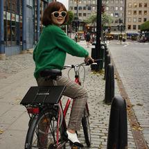 带着小R出游 骑着单车游城