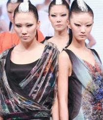 北京时装周T台妆PK国际
