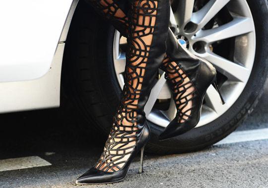 靴子搭配街拍
