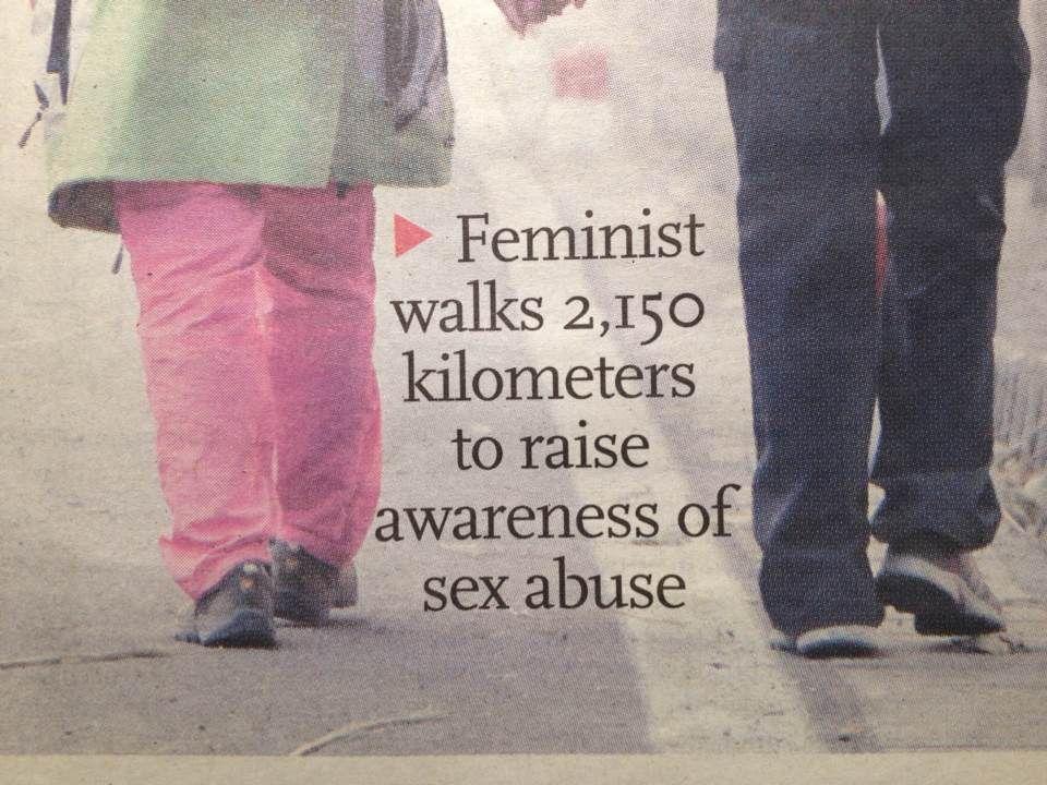 肖美丽,女权主义,徒步,校园性侵害,家庭暴力,性别平等,不一样女人,网易女人,女人专题
