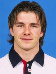 贝克汉姆代表英格兰国家队首秀
