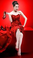 首先,志玲姐示范7大裙子长度……