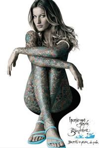 名模吉赛尔-邦辰全裸给凉鞋拍广告