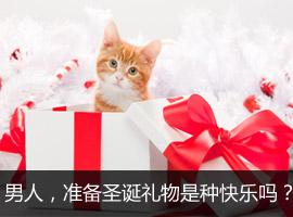 男人,准备圣诞礼物是种快乐吗?