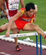 2010年11月24日,在第16届亚运会上,刘翔以13秒09打破110米栏亚运会纪录实现三连冠。