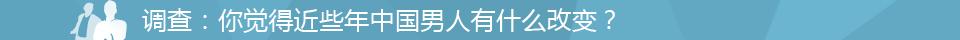 2012中国男人调查投票