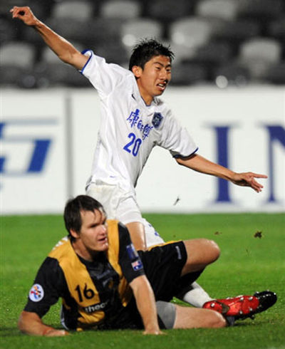 马磊磊巧妙助攻毛彪破门 泰达1-0海岸获两连胜