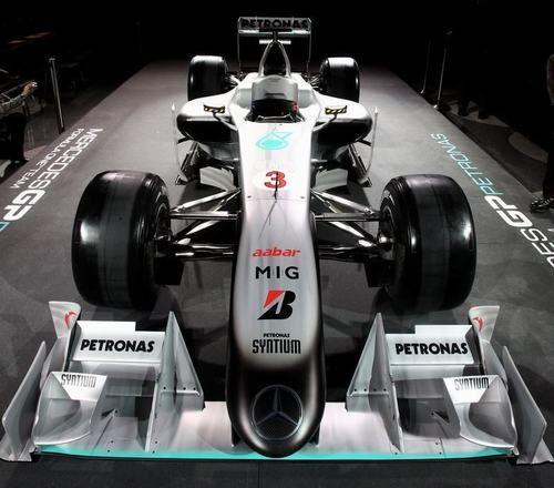 梅赛德斯gp发布2010年新款f1赛车—mgp w01涂装图片