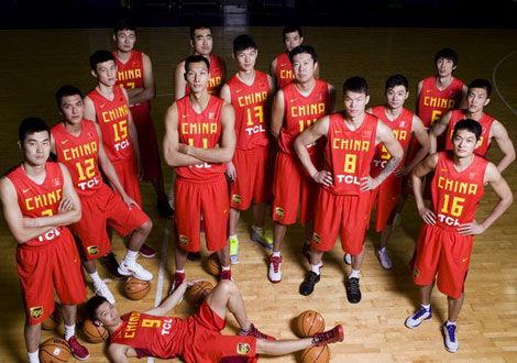 中国男篮全家福