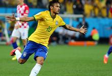 内马尔梅开二度巴西3-1克罗地亚