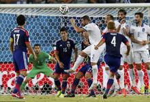 日本众将屡失杀机 0-0平10人希腊