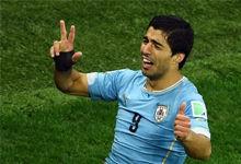 苏神2球鲁尼破门 英格兰1-2负乌拉圭