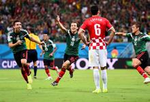 墨西哥3-1淘汰10人克罗地亚