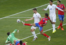 英格兰0-0哥斯达黎加垫底出局