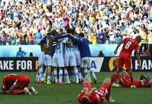 梅西天使绝杀 阿根廷1-0瑞士