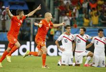 点球大战4-3淘汰哥斯达黎加