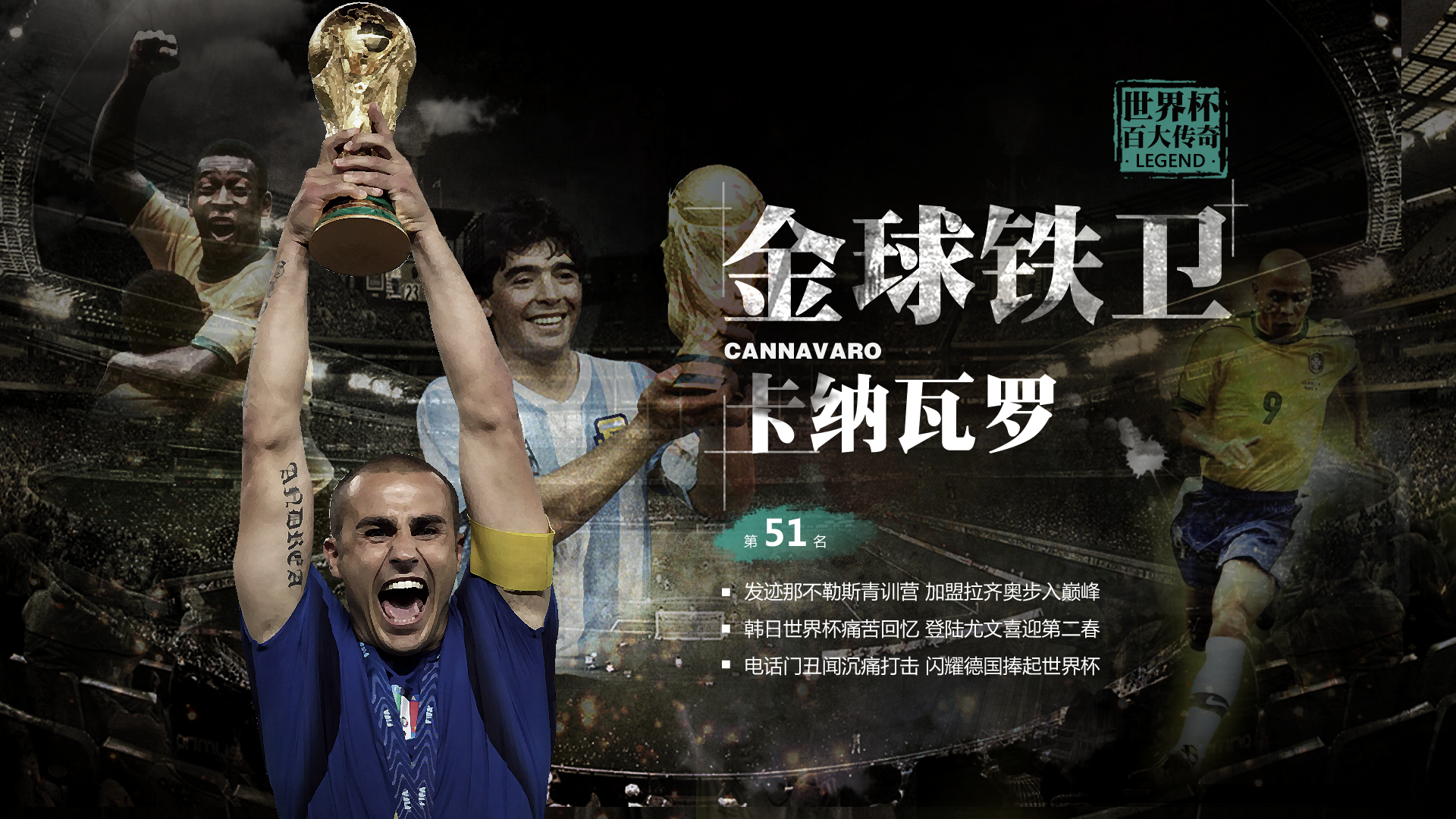 2014世界杯fifa排名_世界杯百大传奇NO.51:金球铁卫卡纳瓦罗_巴西世界杯