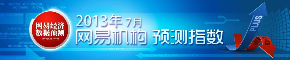 2013年7月网易机构预测指数