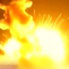 美国无人飞船起飞时突然爆炸