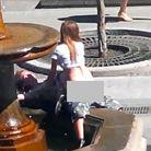 俄男女当街激情15分钟