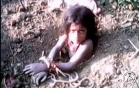 印度男子活埋10岁女儿
