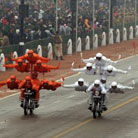 实拍印度摩托车坐7人